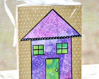 House Painting. New Home sign. House Sign. Housewarming Gift. Home Sweet Home. Colorful House. Purple House. Bless this House. Home Blessing
