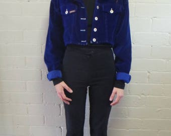 Electric Purple Cropped Jacket