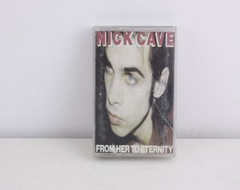 Vintage cassette tape, Nick Cave and the Bad Seeds - From her to Eternity, 1990 Mute Records, vintage music cassette