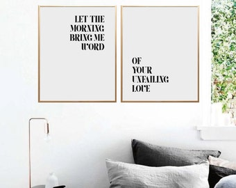 Scripture Wall Art, Bible Verse Wall Art, Faith Quote, Let the morning bring me word, Proverbs 4:7, Bible Verse Print, Printable, Christian