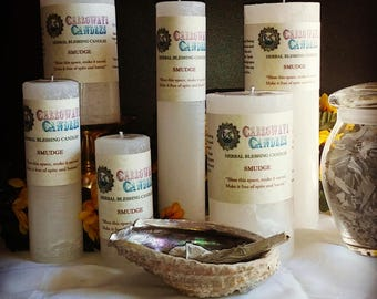 Smudge Herbal Blessings Candles, 5 Sizes, Scented Candles