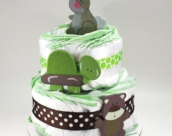 Forest Animal Diaper Cake