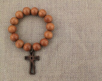 Bead Bracelet / Wood Bracelet / Caramel Bracelet