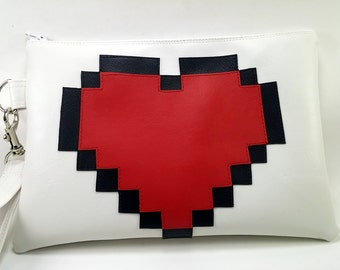 8 Bit Heart Purse | Zelda Purse