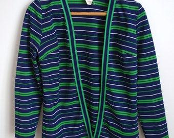 Beautiful Ladies 1960s Vintage Stripe Mod Jacket 12