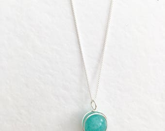 Amazonite necklace, 925 sterling silver amazonite pendant, silver amazonite, amazonite jewellery,  silver amazonite necklace, amazonite