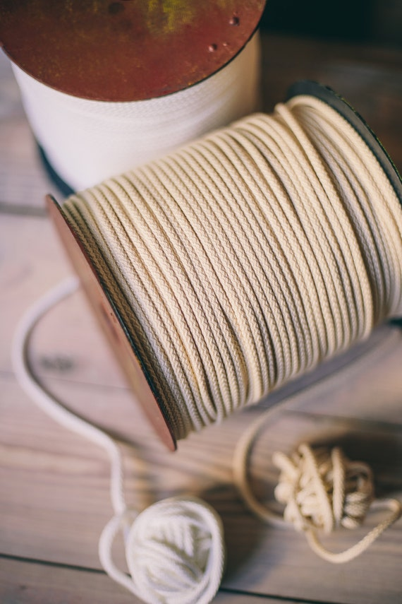 Ivory white Craft yarn- ivory polyester rope- macrame cord- knitting yarn- craft supplies- macrame yarn- crochet yarn- rope cord #03