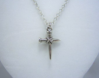 N373, Cross, Nail, Necklace