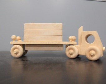Wooden truck, wood truck toy, Handmade wooden truck, Handmade block truck, Kids wooden truck, Handmade maple truck, take apart truck toy