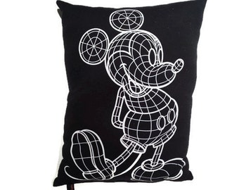 Tron Mickey Mouse Pillow - Glows in the Dark