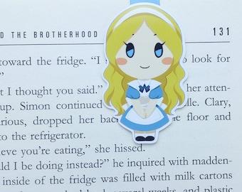 Alice - magnetische Lesezeichen - Alice im Wunderland || Buch-Liebhaber Geschenke | Lewis Carroll | Lesezeichen | Bücherwurm | Lesezeichen