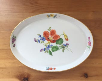 Meissen Trinket Dish, Small Tray, Jewelry Dish