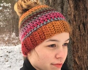 "Shop ""messy bun hat crochet pattern"" in Hat Making & Hair Supplies"