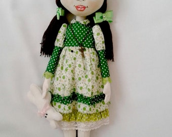 Cloth Doll Art doll Interior Doll Collectible doll OOAK Textile doll Fabric doll
