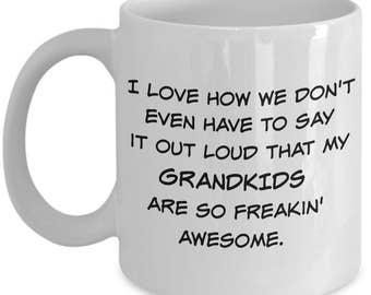 Funny Papa - Grandma - Grandpa - Nana - Gigi Mug - Best Grandparents Gifts - 11 oz Coffee or Tea Cup - Mothers Day - Fathers Day - Birthday