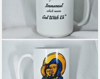 Mary and Jesus Icon Coffee Mug
