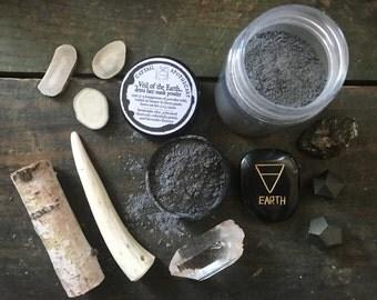 Detox Face Mask / Charcoal Mask / Herbal Mud Mask Powder / Bentonite Clay Face Mask / Blackhead Buster / Calendula Lavender / Vegan Organic