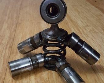 Boy Gearhead Figure, engine metal art