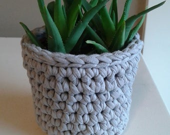 Crochet Plant Basket, Plant Cozy