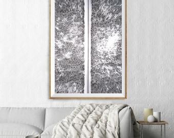 Snowcapped Tree Print, Aerial Photography, Abstract Large Wall Art Decor, Colour Fine Art Photography, Art Prints, Monochrome Landscape