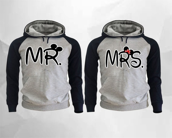 mr mickey mrs minnie couple raglan hoodies p rchen pullover. Black Bedroom Furniture Sets. Home Design Ideas