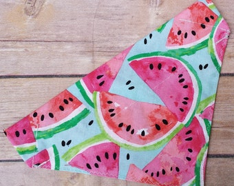 Summer Dog Bandana / Summer Cat Bandana / Watermelon Dog Bandana / Dog Bandana / Cat Bandana / Over the Collar / Pet Bandana / Food Bandana