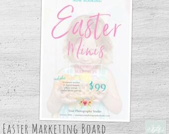 Easter Mini Template, Marketing Board, Photoshop Template for Photographers, Photography Marketing Board, Easter Mini Session
