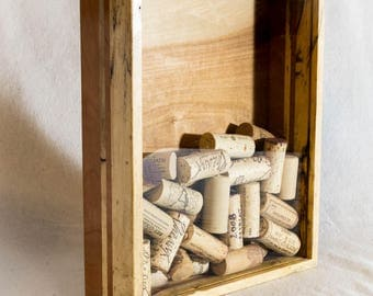 Cork Holder With Rustic Spalted Maple and Cherry