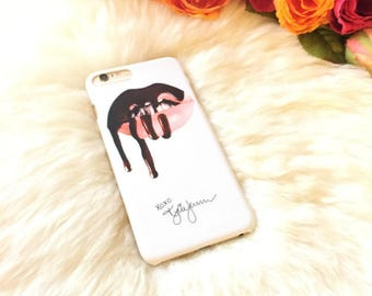 iPhone 7 Case Kylie VIXEN Lip Stick Liquid Polish iPhone 6s 6 Plus, Gift for Her, Kylie Top Selling Lipstick design iPhone White Hard Case
