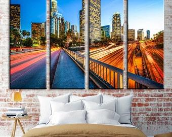 Los Angeles City, Los Angeles Canvas, Los Angeles Print, Los Angeles Poster, Los Angeles Photo, Los Angeles Decor, Los Angeles, Canvas Art