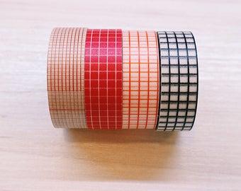 Beautiful Functional Grid Washi Tape 1.5cm