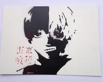 TOKYO GHOUL manga  - Spray Paint Art  A4
