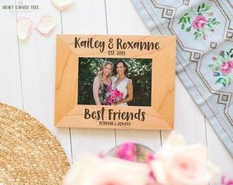 Best Friend Picture Frame, Gift for Bridesmaid, Maid of Honor Photo Frame, Bridesmaid Gifts, Friendship Frame for Photos, 4x6 Frame, 5x7