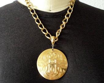 Gold Medallion Necklace