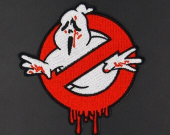 Ghostbusters Zombie Iron On Embroidered applique hORROR Patch