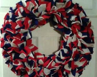 Patriotic Wreath, Door/Wall Hanger....USA