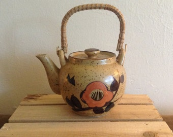 Vintage Japanese Tea pot with Wrapped Handle