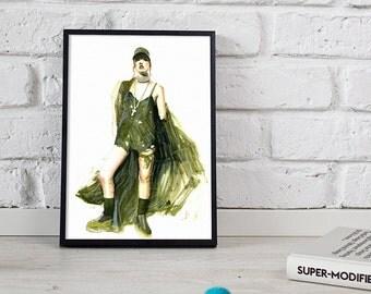 Fenty X Puma print, fashion illustration, watercolour art - 3 sizes available Giclee print