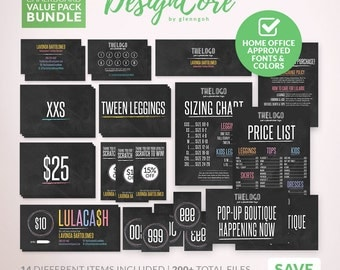 SALE Marketing Kit Bundle Package, Home Office Approved, Simple Chalkboard, 14 Items Package, 200+ Files, Business Card, Fashion DCBDLE004