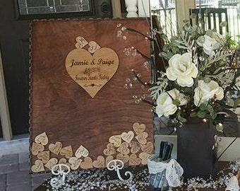 Wedding Guest Book Alternative Guest Book Drop Top Box shadowbox,Rustic Guestbook,Baby Shower Guestbook,Wedding Shadowbox, Unique Guest Book
