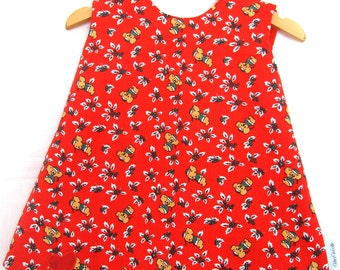 Reversible Christmas Dress size 2 years - Red Dress, Infant Christmas Dress, Koala Dress, Aussie Christmas dress, 2 year old dress