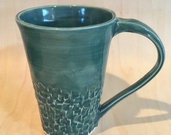 Stormy sea textured mug