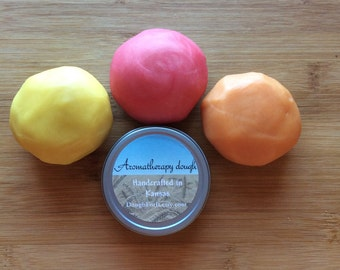 Citrus aromatherapy dough 3 pack, non-traditional stress ball, anxiety relief, fidget, stim toy, adult play doh, sensory, gift for her