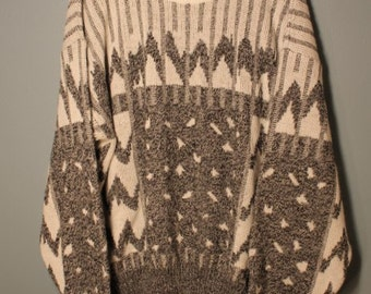 Vintage 80's Expressions Crewneck Knit Sweater Size Large