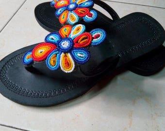 maasai sandals,beaded sandals,handmade sandals