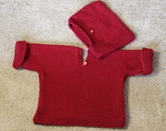 Sweater and hood 100% wool or cotton