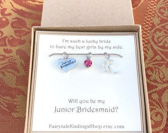 Will you be my Junior Bridesmaid Necklace - C220 - Personalized Junior Bridesmaid Necklace - Junior Bridesmaid Jewelry - Jr Bridesmaid Gift
