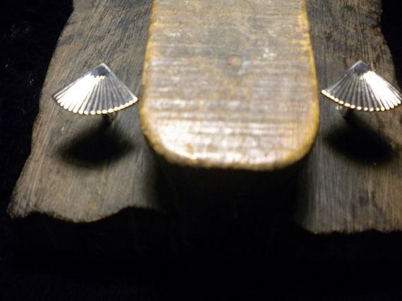 SALE Vintage Cufflinks Made from Vintage Silver Fan Jewelry