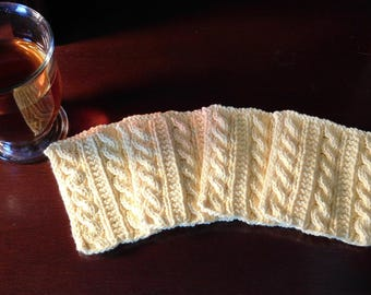 Knitted Cotton Coasters: Set of 4