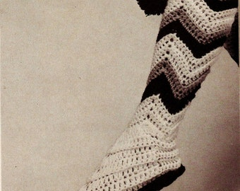 Vintage Boot Slippers Crochet Pattern